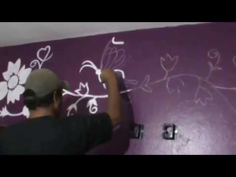 Pintura de parede de quarto parte 2 youtube - Pinturas de paredes ...