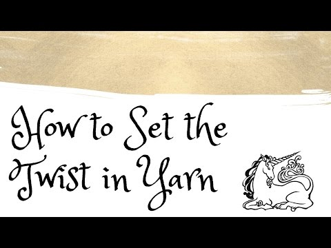 How to Set Handspun Yarn with Unicorn Fibre Rinse
