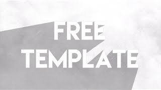 FREE TEMPLATE AFTER EFFECTS | TITLES FLAT