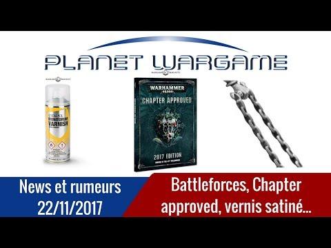News & rumeurs : Battleforce, bombe de vernis satiné, Chapter Approved...