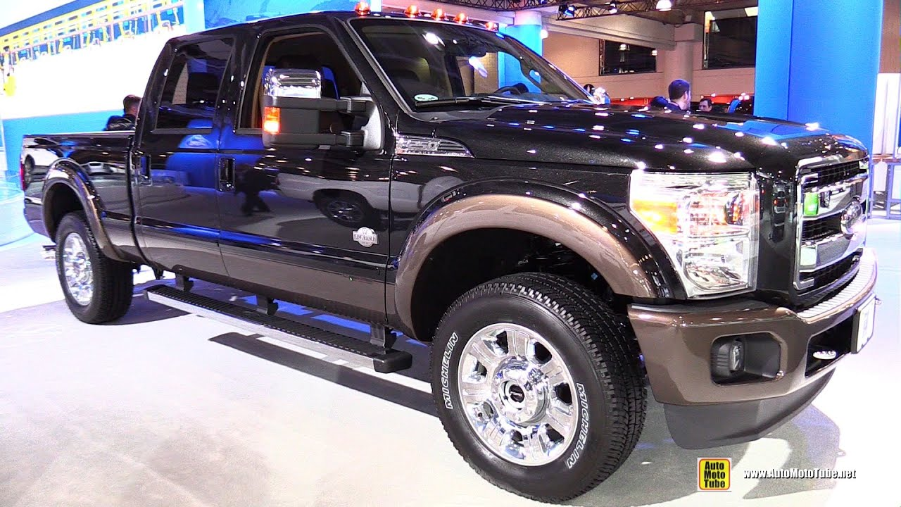2015 ford f250 super duty lariat exterior and interior walkaround 2015 new york auto show. Black Bedroom Furniture Sets. Home Design Ideas