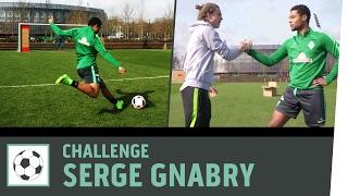 Freistoß-Challenge vs. Profi Serge Gnabry | Werder Bremen | Kickbox
