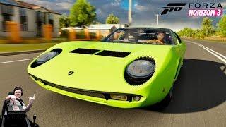 Первый суперкар в мире - Lamborghini Miura - Forza Horizon 3 на руле Fanatec CSL Elite