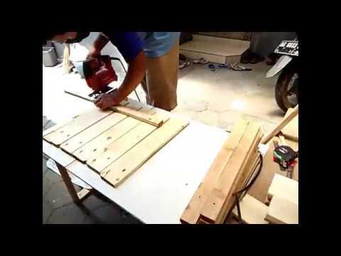 Membuat Rak Meja Tv Dari Bahan Kayu Pallet Jadi