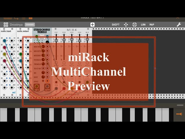 miRack AUv3 - Preview/Tutorial: MultiChannel Audio and Effects
