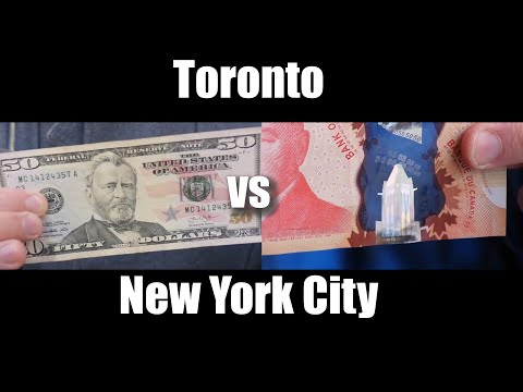 $50 in Toronto vs $50 in New York City - FOOD TOUR - How far will my money go?