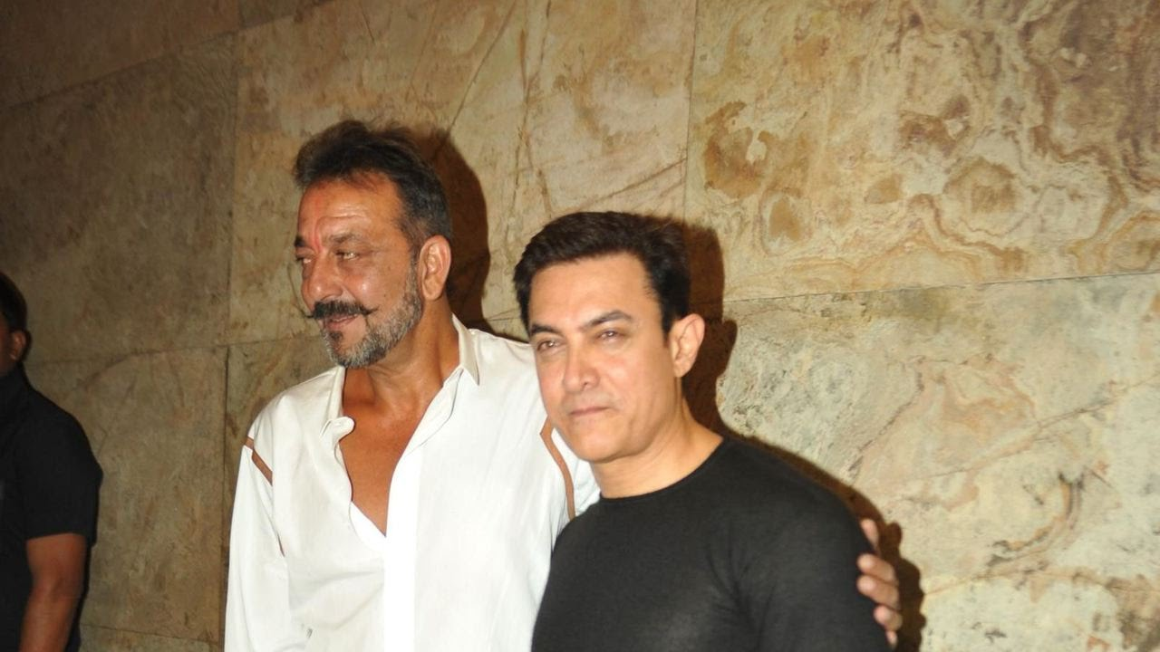 Image result for sanjay dutt with aamir khan