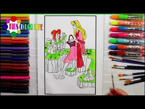 Colorazione Princess Aurora Sleeping Beauty GIANT Colorazione Book Page Crayons COLORING WITH KIDS
