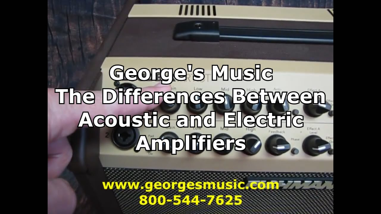 the difference between acoustic and electric guitar amplifiers with george 39 s music youtube. Black Bedroom Furniture Sets. Home Design Ideas