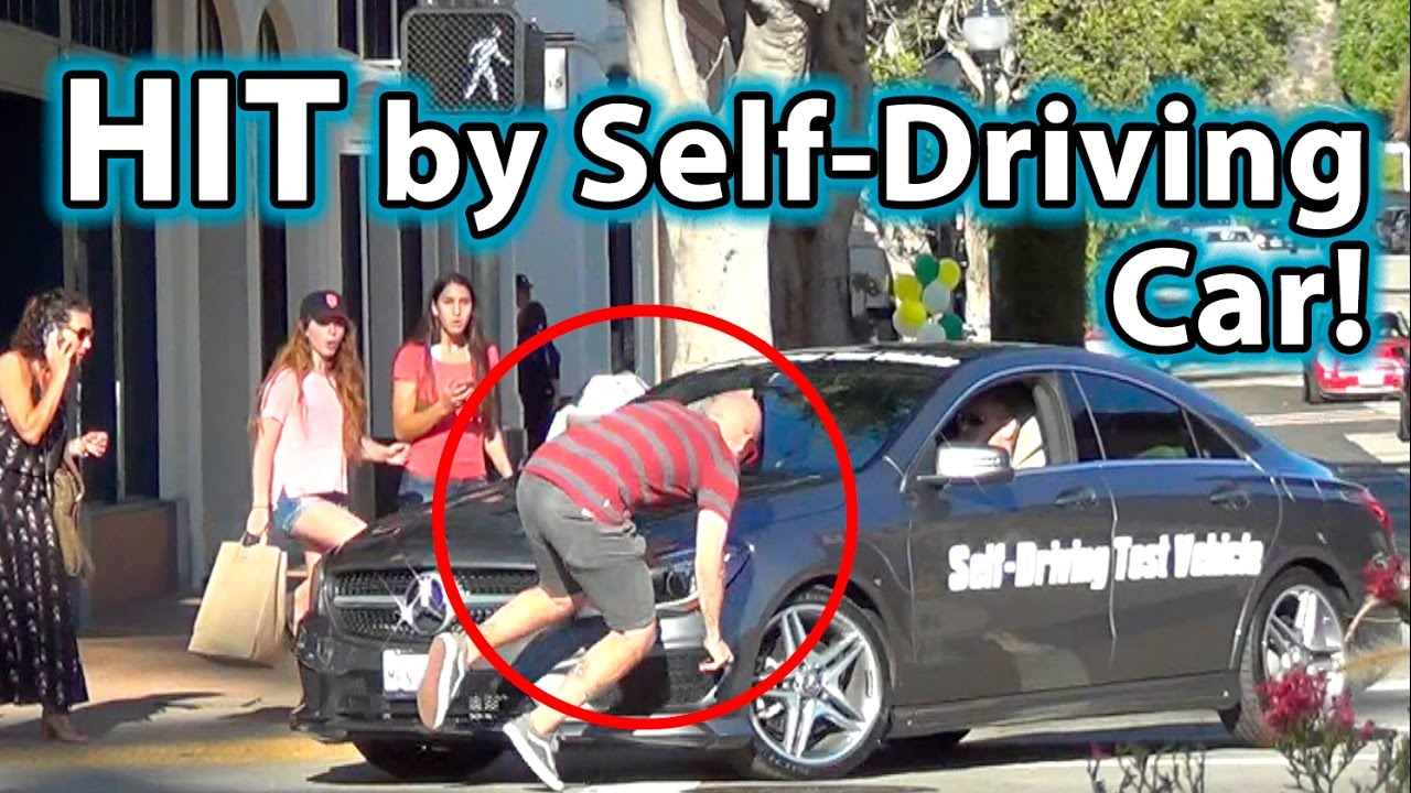 self driving vehicle hits pedestrian youtube. Black Bedroom Furniture Sets. Home Design Ideas