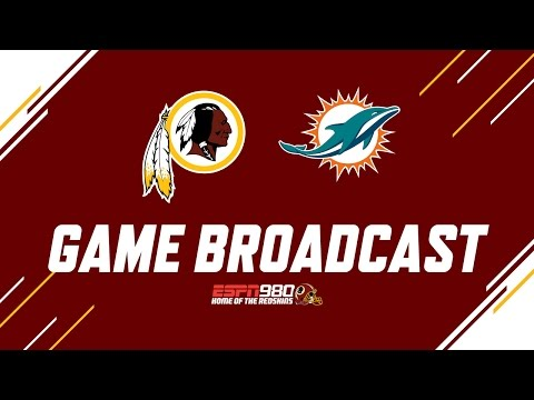 Redskins Radio Booth LIVE vs Dolphins