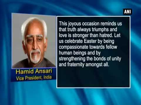 Vice President Hamid Ansari greets citizens on eve of Easter