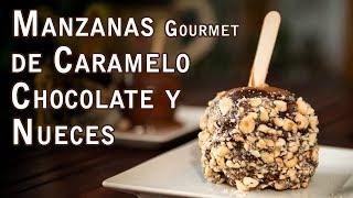 Manzanas Gourmet de Caramelo con Chocolate y Nueces