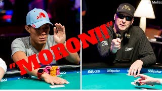 Phil Hellmuth Calls Terrence Chan a Moron!