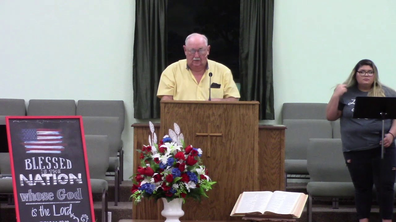6 28 2020 Morn Message at Alamo Heights Baptist Church in Port Lavaca, TX