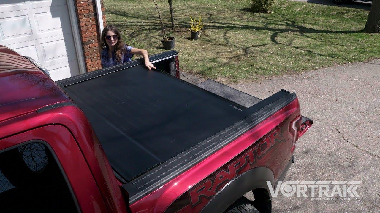 Bak Vortrak Premium Matte Black Retractable Truck Bed