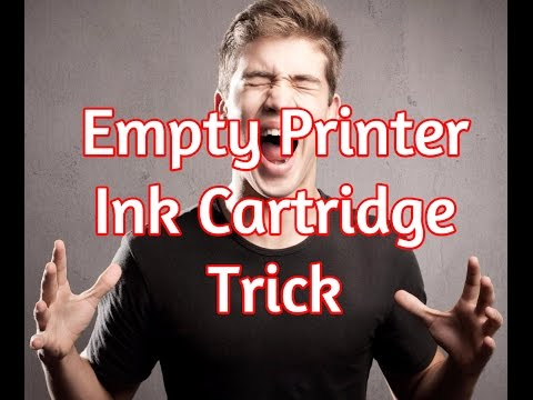 empty-printer-cartridge-secret-hack---how-to-print-with-low-ink-trick