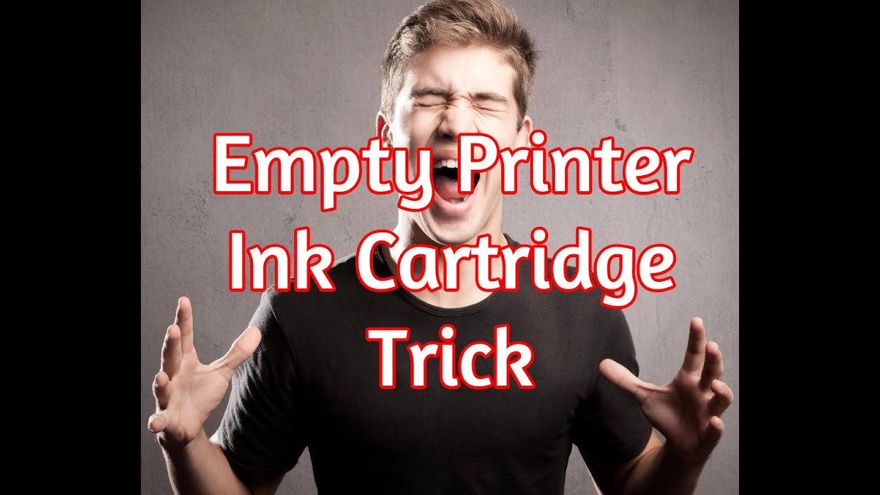 Empty Printer Cartridge Secret Hack - How To Print With Low Ink Trick