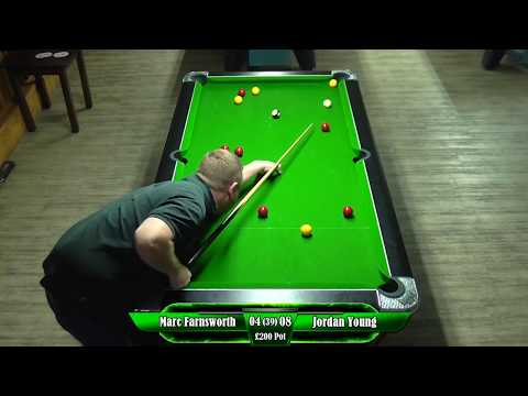 Marc Farnsworth vs Jordan Young  £200     first to 20