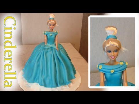 Cinderella Cake How To Do A Disney Princess Barbie Doll