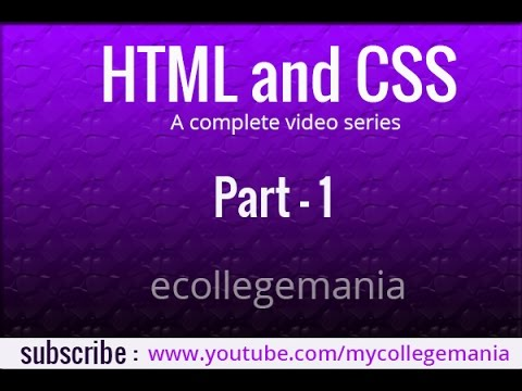 Complete HTML and CSS tutorial