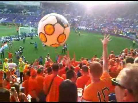Euro2012. Holland fans at the stadium Metalist, Kharkiv