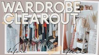 HUGE WARDROBE CLEAR OUT I WAS RUTHLESS! | GET ORGANISED WEEK | KATE MURNANE