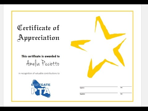 How to quickly make certificate of appreciation using ms publisher how to quickly make certificate of appreciation using ms publisher and templates yadclub Gallery