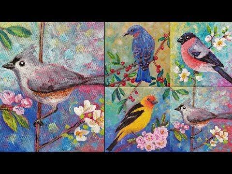 Easy Bird Acrylic Painting Tutorial