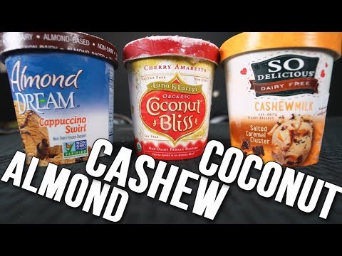 BEST TYPE OF VEGAN ICE CREAM (Cashew Vs Almond Vs Coconut)