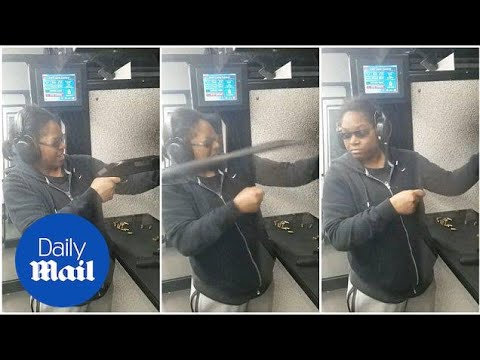 Shotgun flies out of woman's hands at the shooting range - Daily Mail
