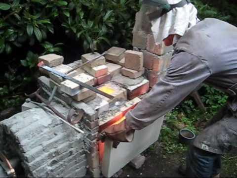 Bronze casting backyard foundry - YouTube