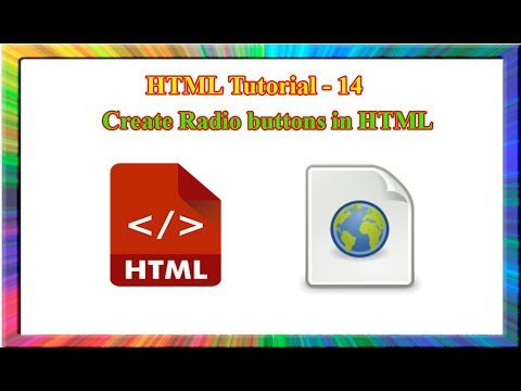 HTML Tutorial-how To Create Radio Buttons In Html