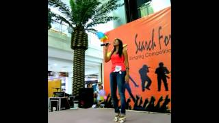 Timor Plaza Singing Competition at Centre Court: Runner-up Eula Baptista (third place)