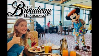 Topolinos Terrace Character Breakfast, using Caribbean Beach check out day to the MAX!