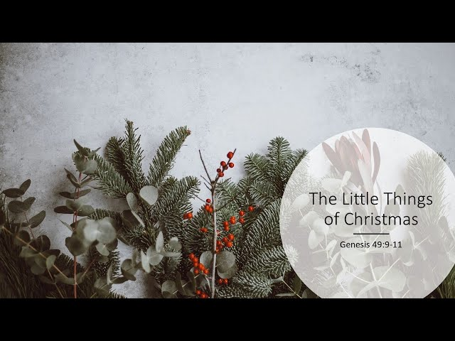 The Little Things of Christmas · 201206 AM Service · Pastor Jerome Pittman