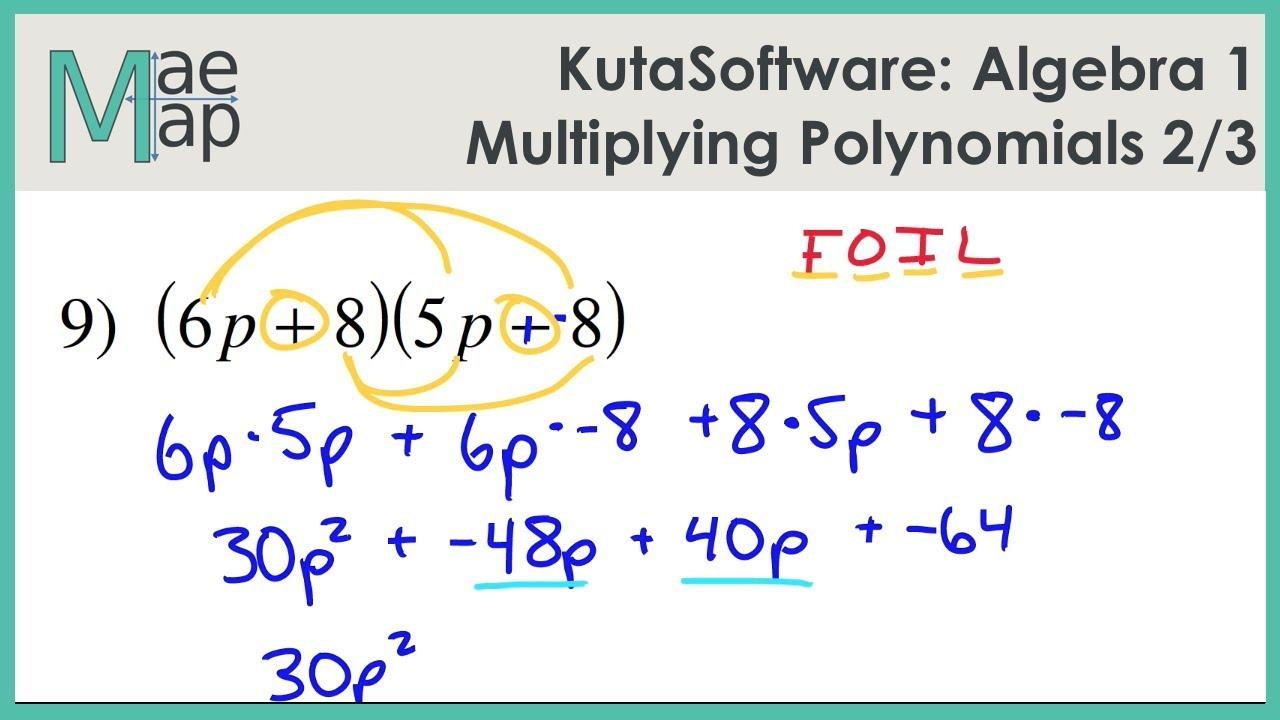 Printables Of Kuta Worksheet Multiplying Polynomials