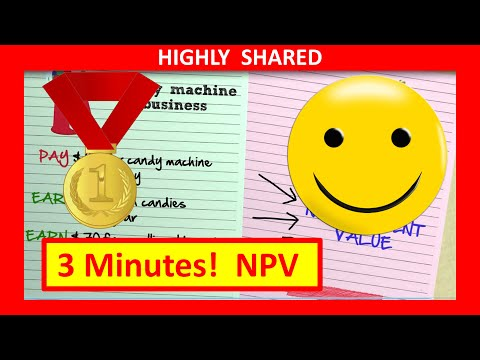 3 Minutes! Net Present Value Npv Explained With Npv