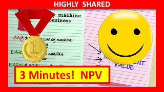 🔴 3 Minutes! NPV and Net Present Value Explained with NPV Example (Quickest Overview)