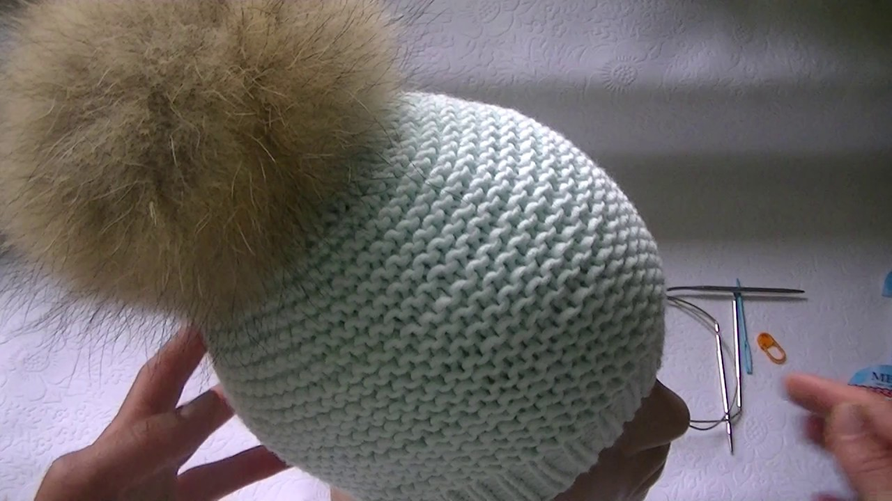 Схема вязания шапки платочной вязкой фото 962