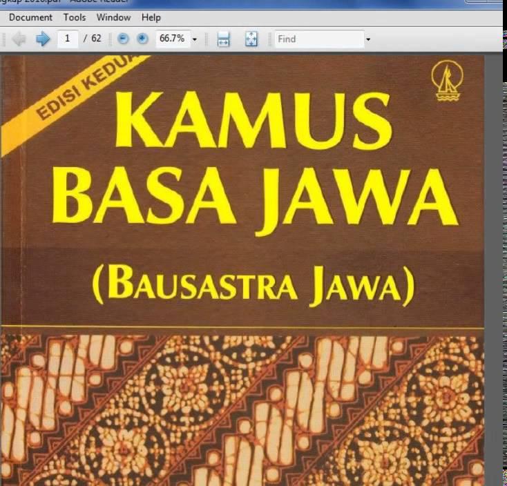 Kamus Bahasa Jawa Halus Pdf