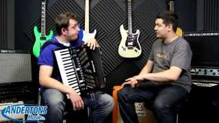 The Andertons Accordion Video! - Roland V-Accordion FR-3X