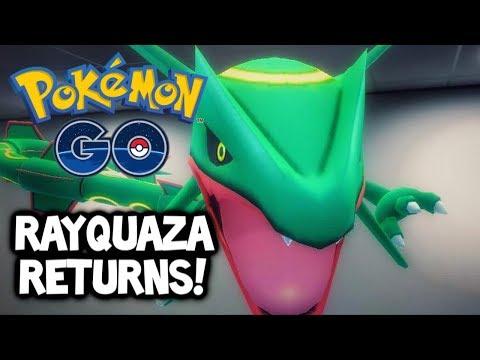 SHINY OR NOT?! RAYQUAZA RETURNS TO POKÉMON GO!