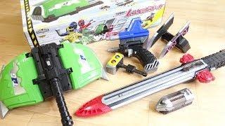 イマジネーションで遊ぶ!DXレンケツバズーカ & エナジーレッシャー レビュー!合体発車砲 トッキュウジャー5人の武器が1セット thumbnail