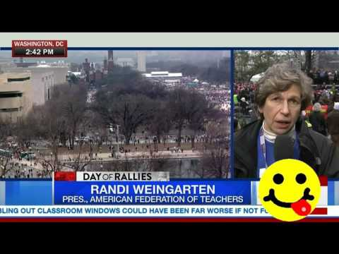 People Are Woke - Randi Weingarten at the Women's March on Washington
