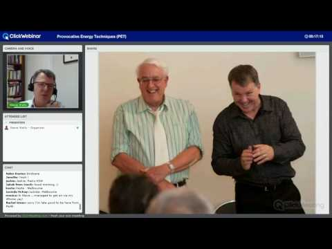 Provocative Energy Techniques (PET) Webinar with Steve Wells