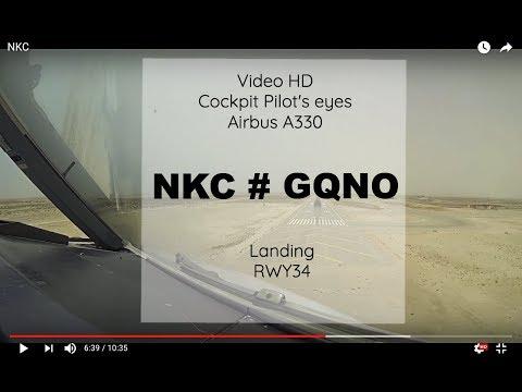 Cockpit | Landing ✈ NOUAKCHOTT ( NKC / GQNO ) Mauritania  ✈ A330 - RWY34 [HD]