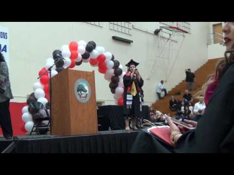 CSU East Bay Chicano / Latino Graduation 2017 7/7 - Christina crossing the stage