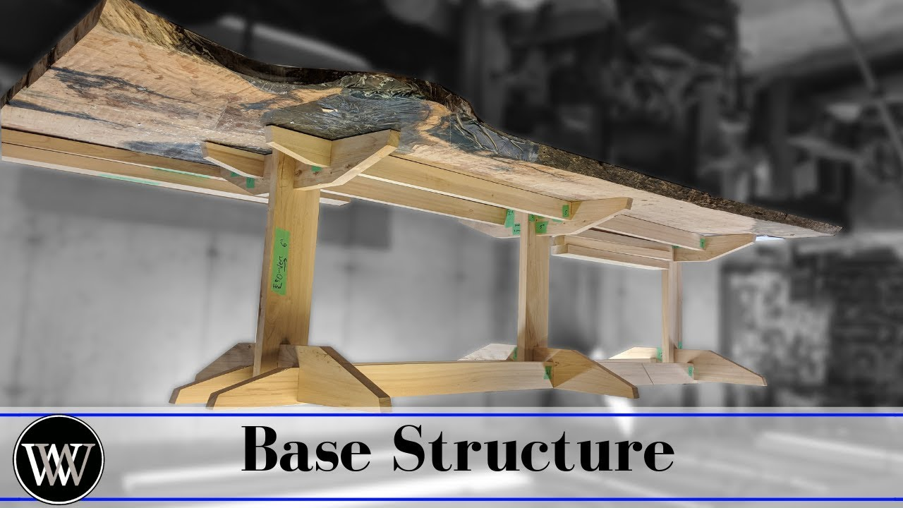 Building A Slab Dining Table Base Structure Part 8