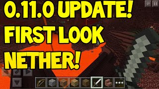 Minecraft Pocket Edition - 0.11.0 Update! - FIRST LOOK! - Nether World + More Info!